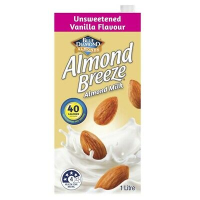 Blue Diamond Almond Breeze Vanilla Flavoured Unsweetened Almond Milk 1L