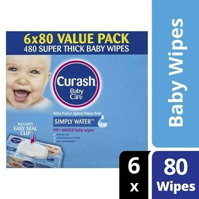 Curash Baby Care 480 Baby Wipes 6x80 pack 6 pack