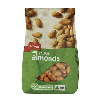 Coles Natural Almonds Prepacked 350g