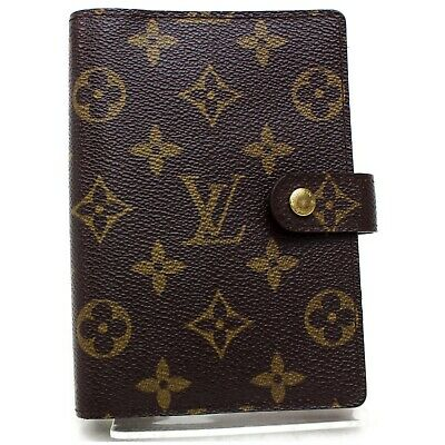 Authentic Louis Vuitton Diary Cover Agenda PM Browns Monogram 1109637