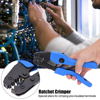 Electrical Ratchet Ferrule Crimping Crimper Plier Wire Stripper Terminal