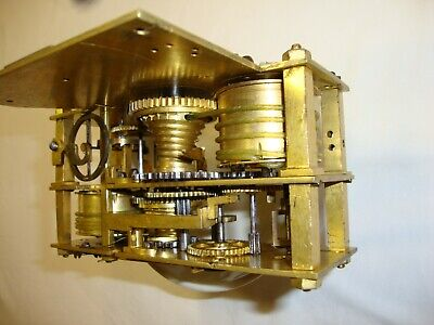 clock movement Renaissance 1500 gilded very rare