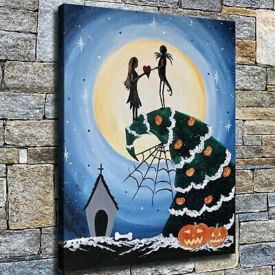 """12""""x16""""Christmas tree love HD Canvas print Home decor Wall art paintings picture"""