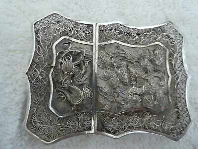 19th Century Antique Chinese Silver Card Case 52.6g