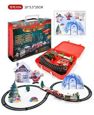Battery Operated Christmas Train Set- Around Christmas Tree w/Music & Lights