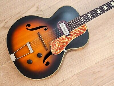 1953 Harmony H-50 Vintage Archtop Electric Guitar USA-Made w/ Gibson P-13 Pickup