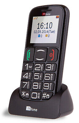 TTfone Mercury 2 Pay As You Go Big Button Senior Mobile Phone with Large Display