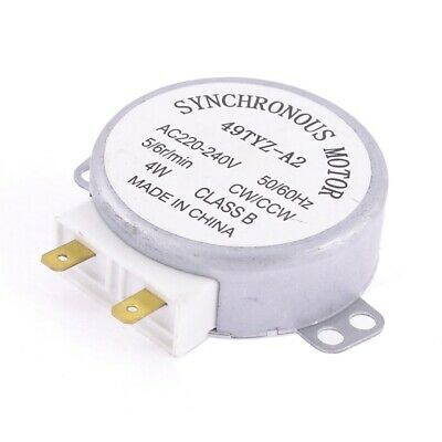 miniwave Oven Turntable Synchronous Motor CW/CCW 4W 5/6RPM AC 220-240V W2H4