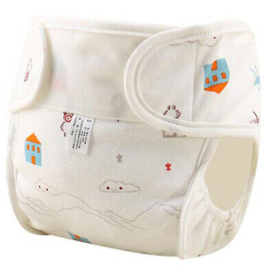 Reusable Baby Infant Washable Adjustable Nappy Cotton Diapers Soft Covers HY