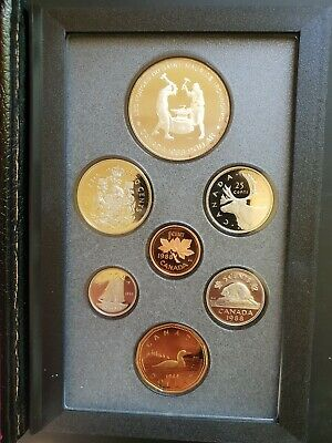 1988 Canada Iron Works Proof Double Dollar 7 Coin Set - Original Packaging...