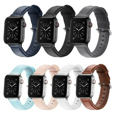 Genuine Leather Band Strap For Apple Watch Series 5 4 3 2 1 iWatch 38/42/40/44mm