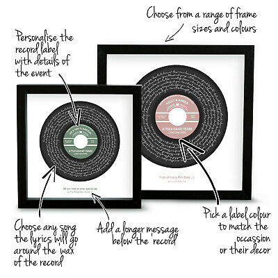 Personalised Christina Perri Thousand Years Song Lyrics Music Print Vinyl Record