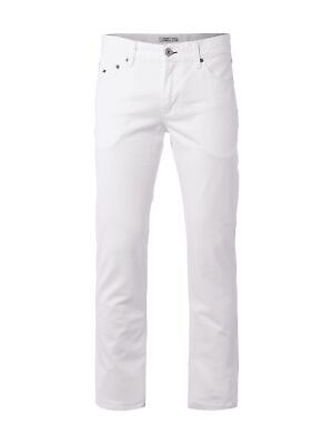 Tommy Hilfiger Coloured Straight Fit Jeans Herren Hose Weiss