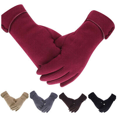 Outrip Lady Winter Warm Gloves Touch Screen Phone Windproof Lined Thick Gloves