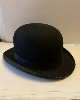 Vintage G.A. Dunn & Co - HAT - LONDON - Piccadilly Circus BLACK As Seen