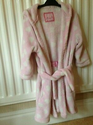 Girls Pink Dressing Gown Age 5-6 Years From Young Dimension - Free Postage