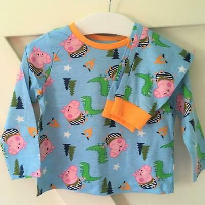 New Nutmeg Boys Peppa Pig George & Dinosaur Pyjamas Set 2 Pc - Exstore - 12-24M
