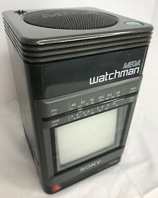Sony Mega Watchman FD-500 BW TV, Collectable Vintage Technology 1990 Old School
