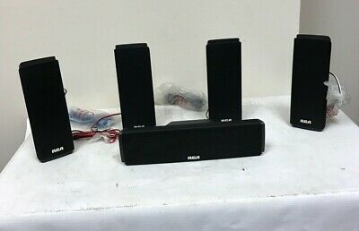 RCA RTD317W 5.1 Channel Home Theater System 5 Speaker Set Only