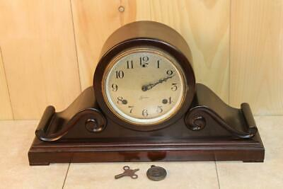Antique Sessions 8 Day Time and Strike Mantle Clock ~ Super Nice