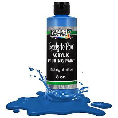 Pouring Masters Midnight Blue 8-Ounce Bottle Water-Based Acrylic Pouring Paint