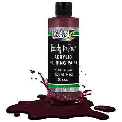 Pouring Masters Romance Novel Red 8ozBottle Water-Based Acrylic Pouring Paint