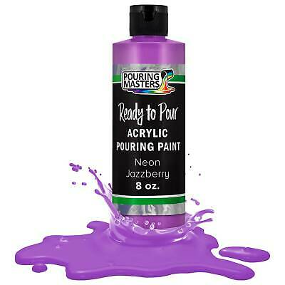 Pouring Masters Neon Jazzberry 8-Ounce Bottle Water-Based Acrylic Pouring Paint