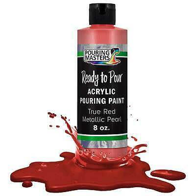 Pouring Masters True Red Metallic Pearl 8-Ounce Acrylic Pouring Paint