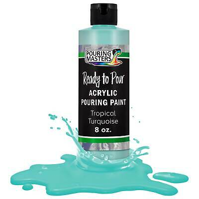 Pouring Masters Tropical Turquoise 8ozBottle Water-Based Acrylic Pouring Paint