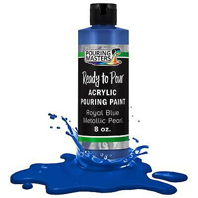 Pouring Masters Royal Blue Metallic Pearl 8-Ounce Acrylic Pouring Paint