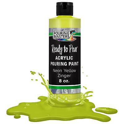 Pouring Masters Neon Yellow Zinger 8ozBottle Water-Based Acrylic Pouring Paint