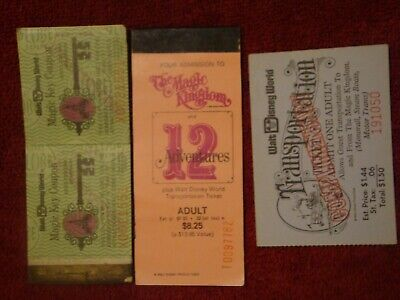 Disneyworld 1978 Magic Key Ticket Book And Transportation Ticket & More  #66