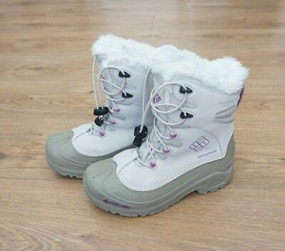 COLUMBIA Snow Boots Insulated Waterproof Omni-Heat UK4 EU37 Youth/Kids Used Once