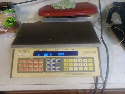 Used Detecto Price MS-100 Postal Digital Computing Scale Cardinal Manufacturing