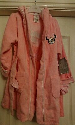 Disney Minnie Mouse Pink Dressing Gown. Age 4