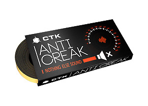 CTK Anticreak Door Sealing Tape Car Audio Sound Deadening Vibration Proofing