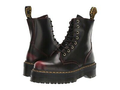 Women's Shoes Dr. Martens JADON Leather 8 Eye Boots 24764600 CHERRY RED ARCADIA