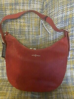 Designer Jasper Conran Red Leather and Fur with Gold hardware.Cost £149