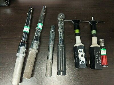 Lot of 7 Various Aviation Torque Wrench Tools 3 Utica Brand Russtech JO-LINE
