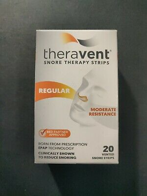 Theravent Snore Therapy Strips Regular Moderate Resistance 20 Snore Strips