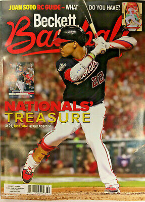 New January 2020 Beckett Baseball Card Price Guide Magazine With Juan Soto