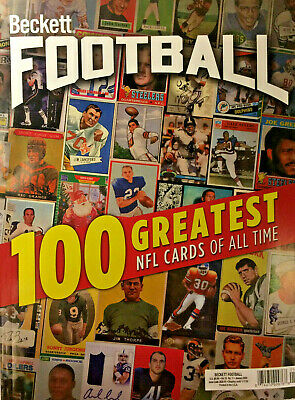 New January 2020 Beckett Football Card Price Guide Magazine 100 Greatest Cards