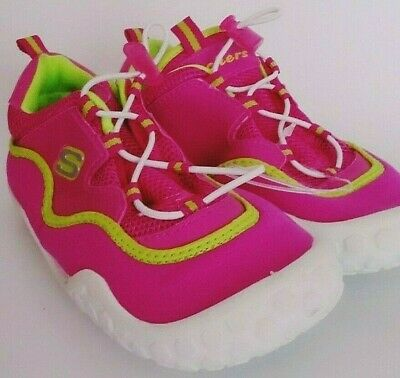 Skechers Girls Bright Pink,Lime Green Multi Color Water Shoes Size 2
