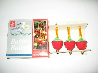 VTG~3 PACK~BUBBLE LIGHT Replacement BULBS~Candelabra~C7~Foremost IND #2950~w/BOX