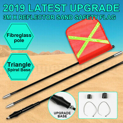 2019 AU 3M High Sand Safety Flag 4WD Towing Offroad Touring 4x4 Simpson Desert