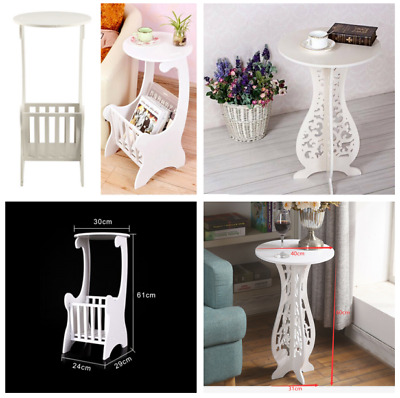 White Coffee Table Lamp Small Side End Table Nightstand Telephone Bedside