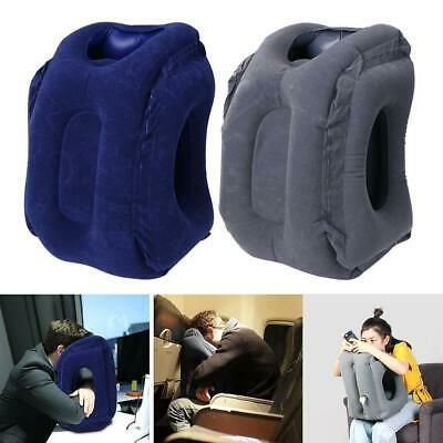 PVC Inflatable Sleeping Pillow Plane Car Soft Cushion Portable Neck Pillow