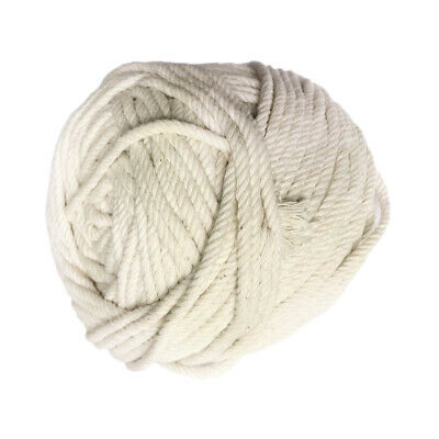 100 Yards 4mm 100% Natural Pure Cotton Rope Braided Twisted Cord Twine Sash