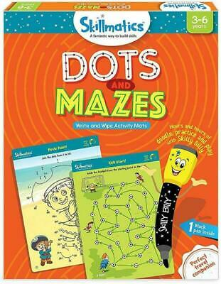Skillmatics Educational Game: Dots And Mazes (3-6 Years)   Erasable And Reusable