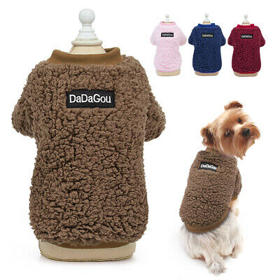 Winter Dog Coats Puppy Pet Cat Jacket Clothes for Small Dogs Chihuahua Poodle